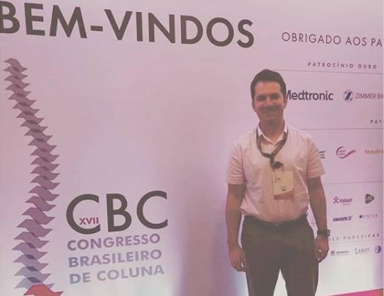 Dr. Phelipe participa de Congresso Brasileiro de Coluna em São Paulo